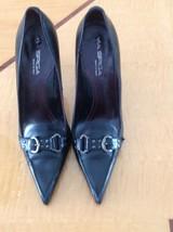 EUC Via Spiga Black Pointy Toe Box Stilettos SZ 8.5 M - $88.11