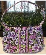 Vera Bradley Sophie Hobo Handbag Shoulder Bag Purse Plum Petals Excellent
