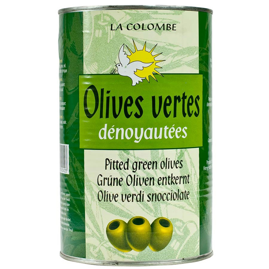 Pitted French Green Olives - 1 can - 4.4 lbs