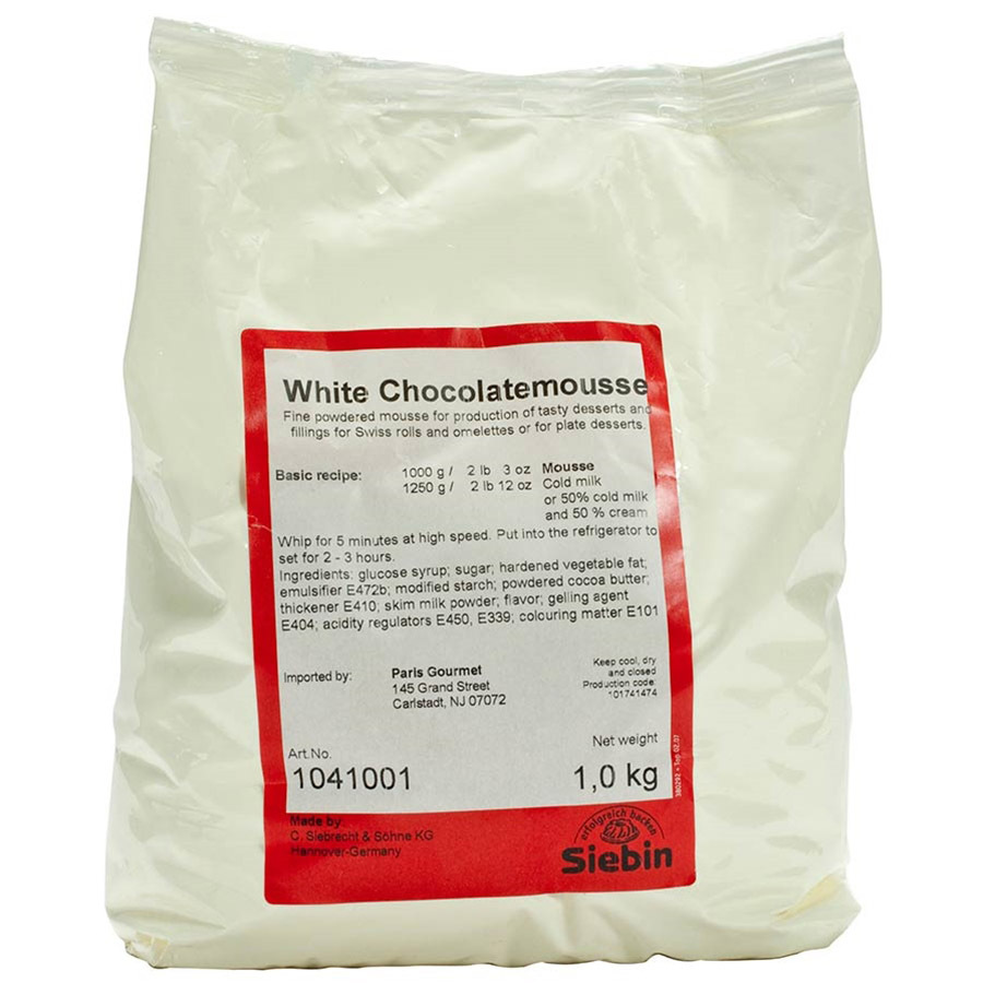 White Chocolate Mousse Mix - 1 bag - 2.2 lbs
