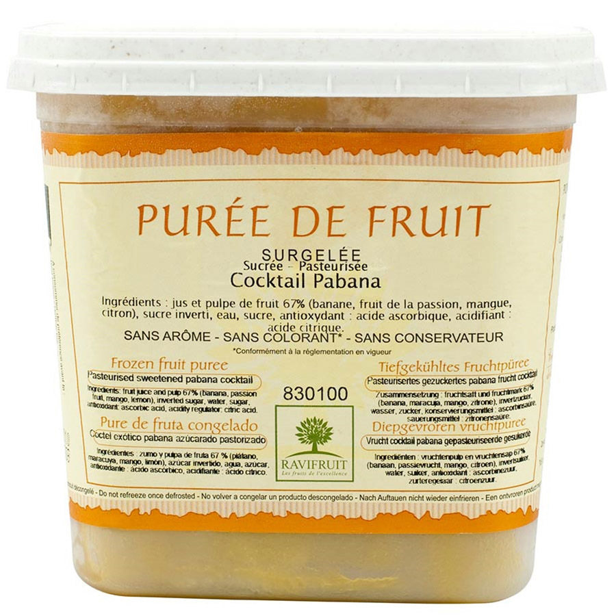 Pabana Puree (Passionfruit, Banana, Mango, Lemon) - 1 tub - 2.2 lbs