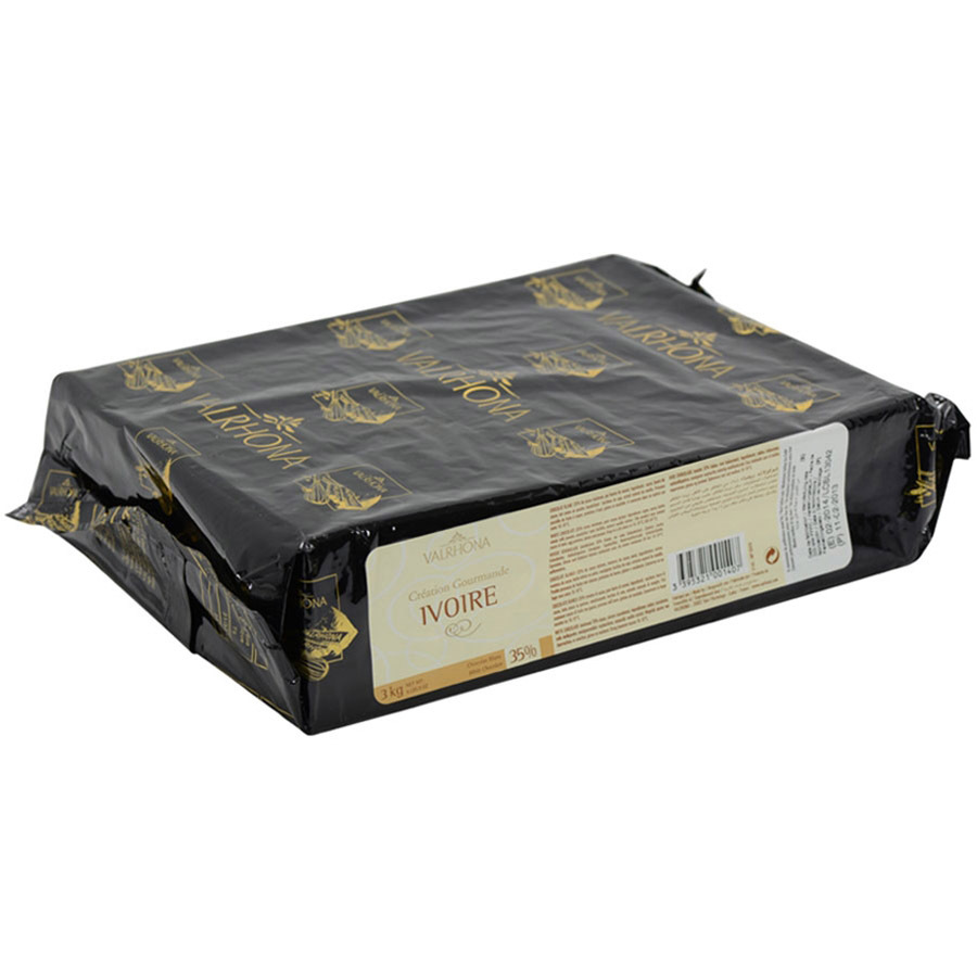 Valrhona White Chocolate Block - Ivoire, 35% - 1 block - 6.6 lbs