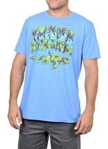 Large Men's MAUI & Sons Tee Shirt Island Chubz Heather Royal Short Sleeve NEW