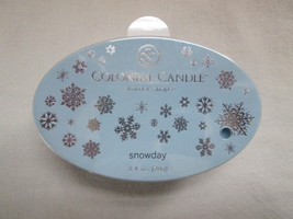 Colonial Candle Simmer Snaps SNOWDAY 2.4 oz Oval snaps, tarts, wax melt - $6.00