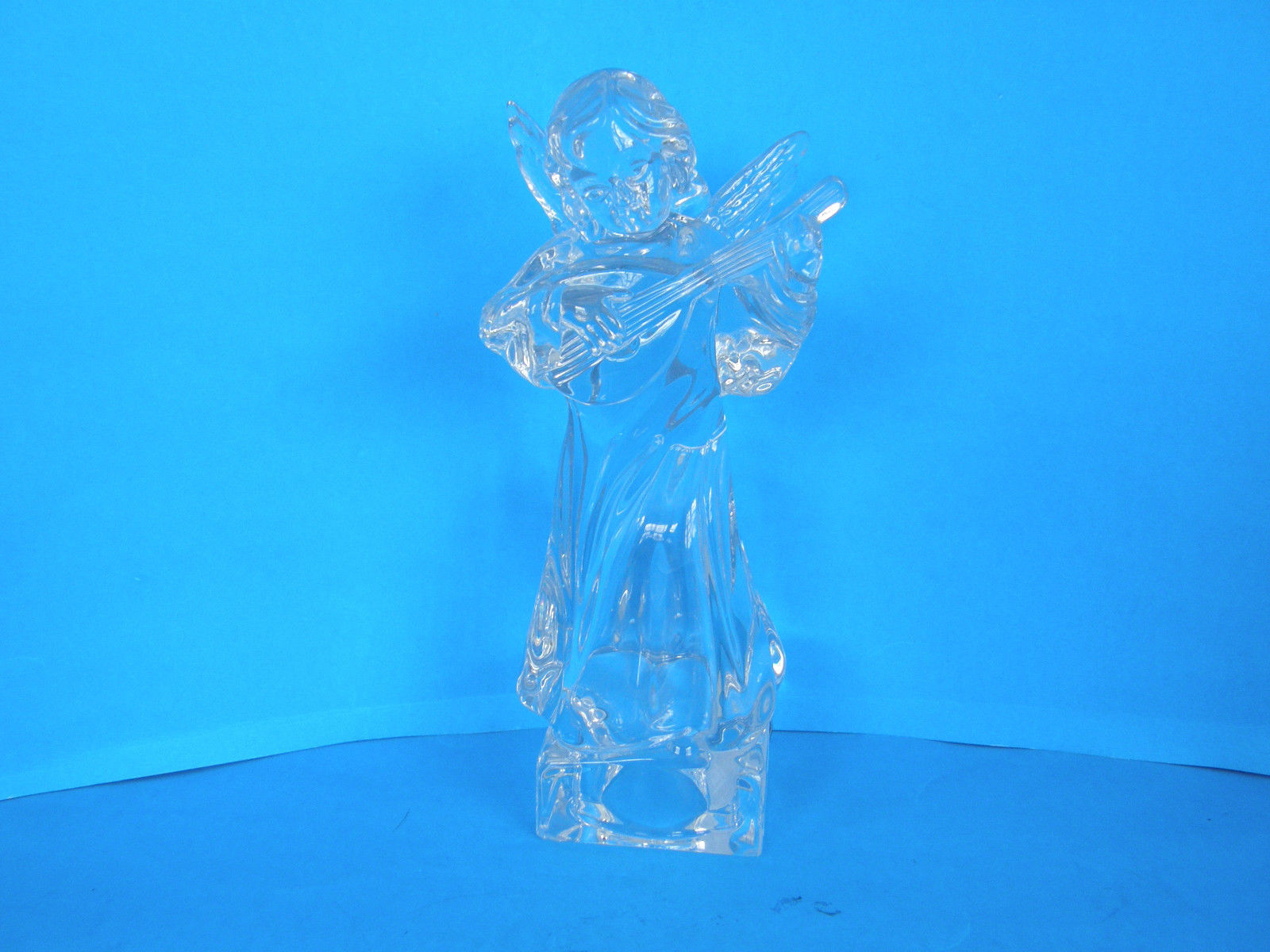MIKASA LEAD CRYSTAL HERALD COLECTION ANGEL PLAYING THE MANDOLIN - ORIGINAL TAGS