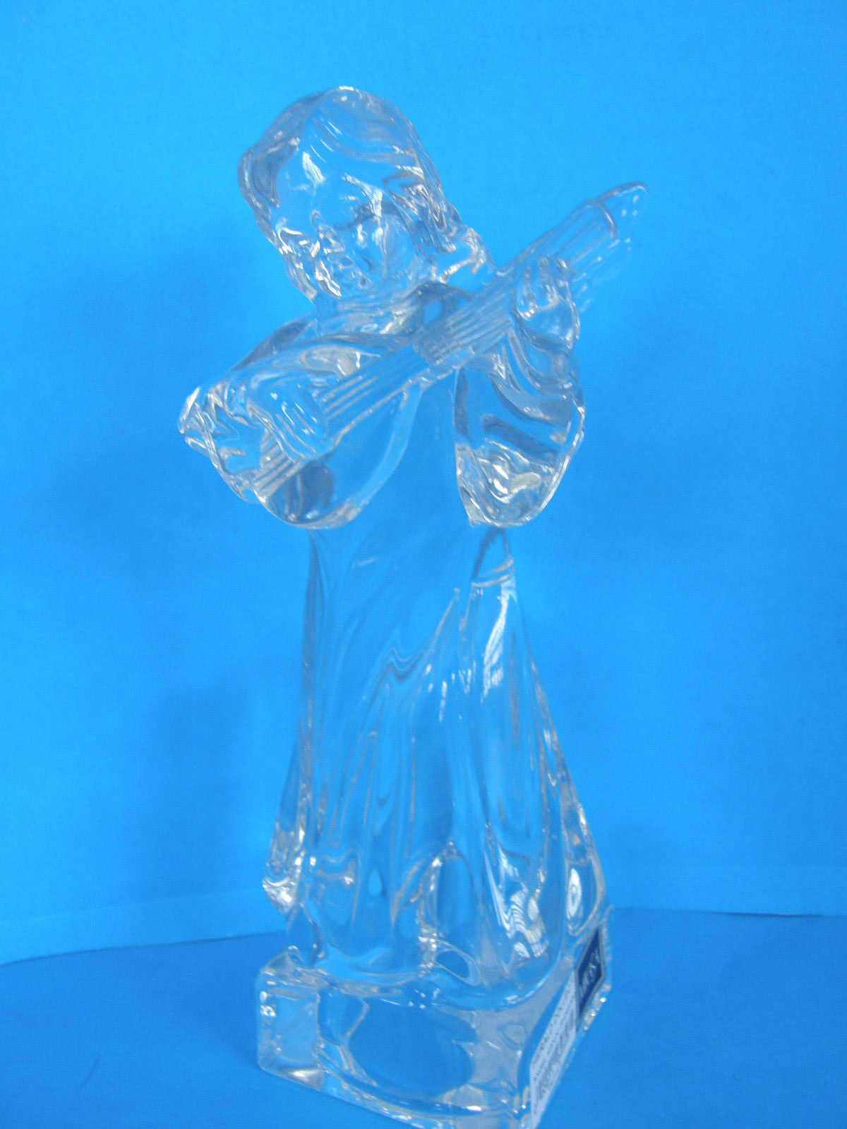MIKASA LEAD CRYSTAL HERALD COLECTION ANGEL PLAYING THE MANDOLIN - ORIGINAL TAGS image 2
