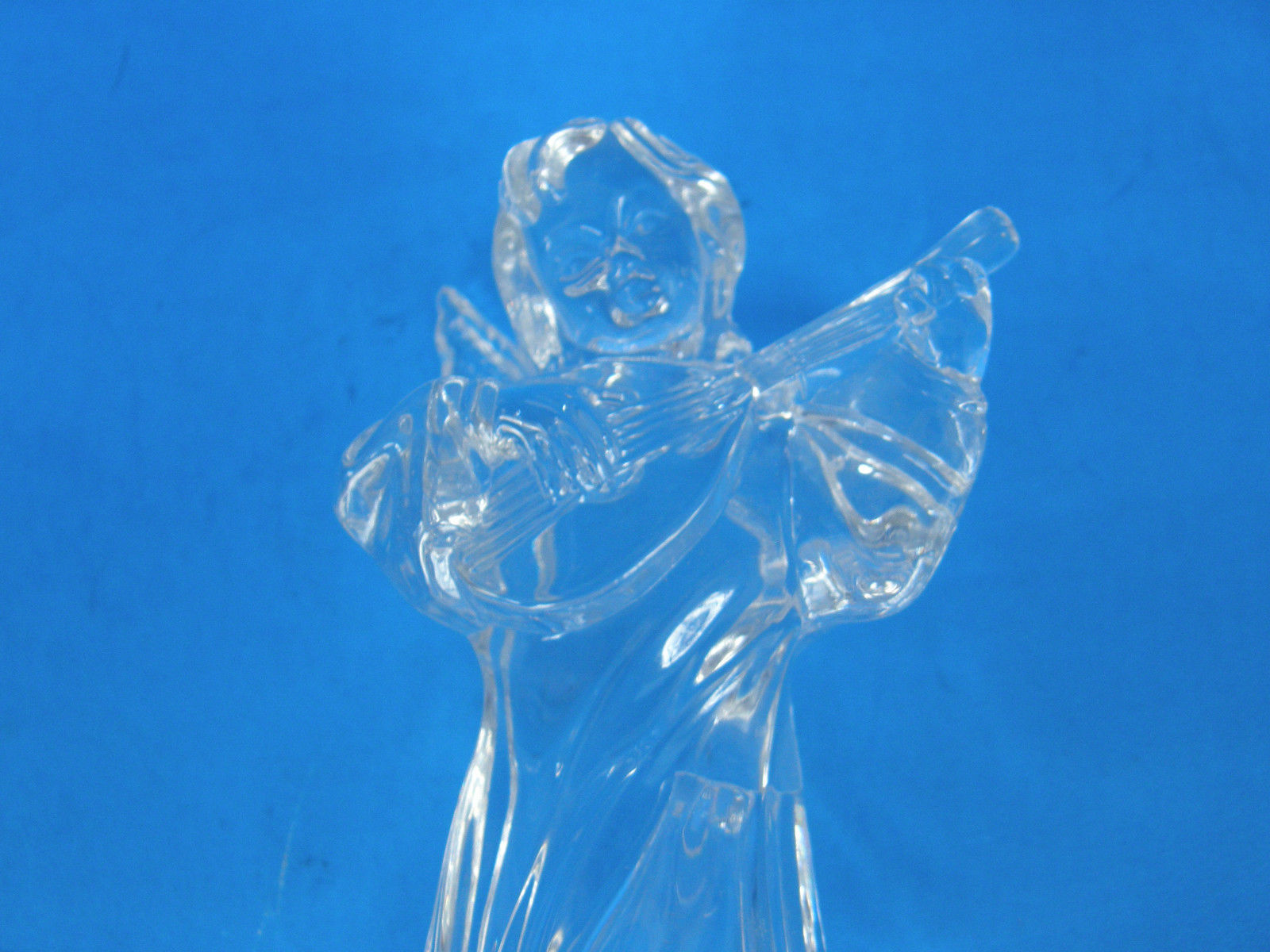 MIKASA LEAD CRYSTAL HERALD COLECTION ANGEL PLAYING THE MANDOLIN - ORIGINAL TAGS image 5