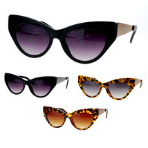 Womens Vintage Style Retro Metal Arm Thick Plastic Cat Eye Sunglasses - $9.95