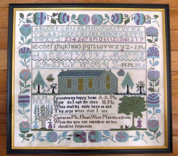 Catharine McNeal 1843 Antique Sampler Reproduction Samplers Revisited