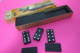 Vintage 1970 Wooden Dragon Double Six Dominoes Milton Bradley Complete I... - $19.95