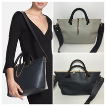 CHLOE MEDIUM BAYLEE BAG MARSHMALLOW GREY/BLACK - $900.00