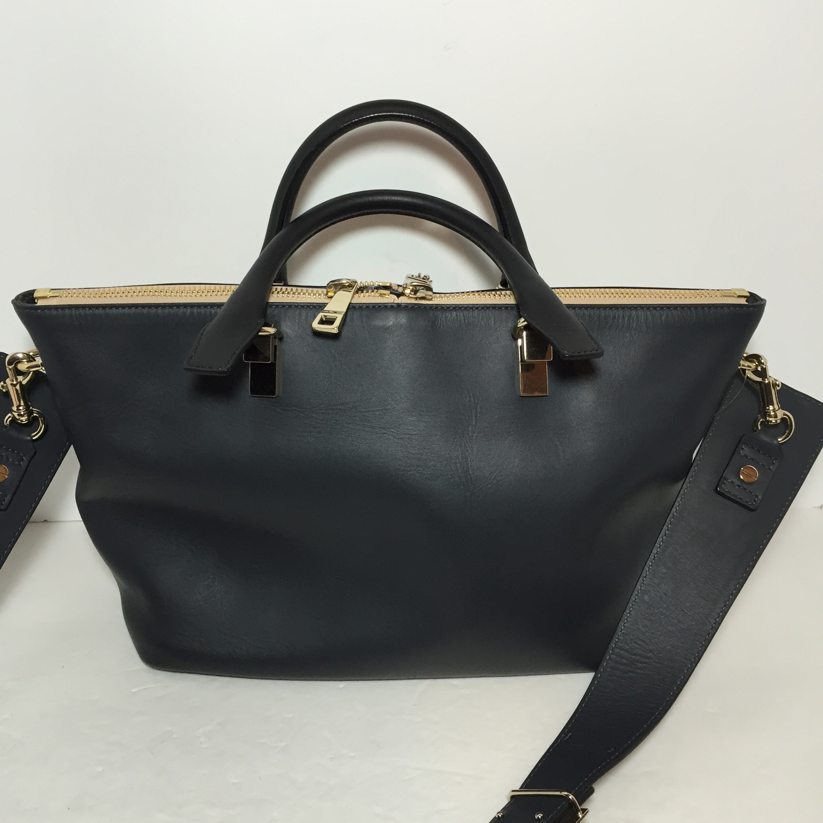 CHLOE MEDIUM BAYLEE BAG MARSHMALLOW GREY/BLACK
