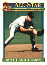 1991 Topps Matt Williams #399 All-Star San Francisco Giants (MT) Baseball Card - $0.19