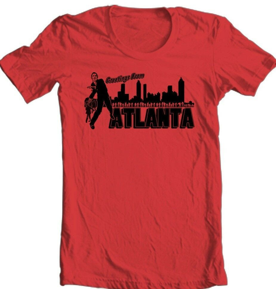 The Walking Dead T-shirt Welcome Atlanta  Zombie horror movie cotton graphic tee