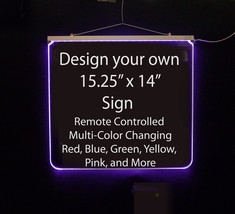 """Personalized LED Sign, Man Cave, Wedding, Bar Sign 15.25"""" X 14""""-Design y... - $160.00"""