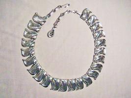 Vintage COLLAR STATEMENT Necklace / Choker - Vintage Designer CORO Silve... - $12.00