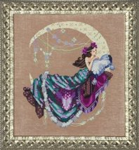 FULL AIDA KIT Moon Flowers MD137 cross stitch Mirabilia Designs - $47.30