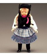 Dollhouse Dressed Cowgirl Caco DHS01652 Flexible Blond Braids Miniature ... - $33.70