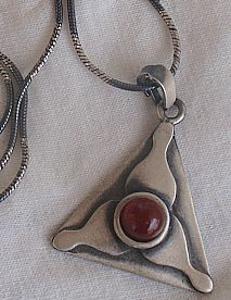 Triangle  red pendant