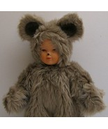 Dollhouse Doll in Bear Suit DHS01625 Caco Small Child Flexible Miniature - $32.75