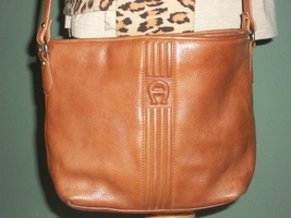 ETIENNE AIGNER Genuine Leather British Tan Shoulder Bag Handbag - $25.00