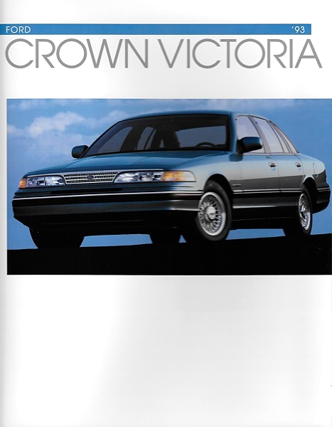 Primary image for 1993 Ford CROWN VICTORIA brochure catalog 93 US LX