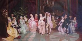 36X72 inch Museum Quality Real Oil Painting Repro Noble Life - $227.35