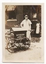 Vintage Antique Original Snapshot Photo Kinzers Bricks & painting Advert... - $15.00