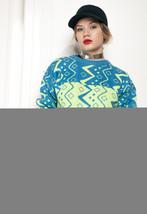 Neon knit jumper - 90s vintage sweater - $40.06