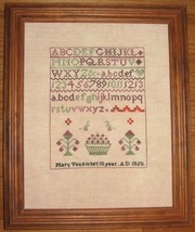 Mary Veall 1850 Antique Sampler Reproduction cross stitch chart Samplers Revisit - $8.00