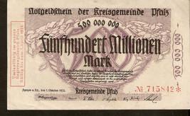 Germany Notgeld schein d. Kreisgemende Platz 500000000 / 500 millionen M... - $35.00