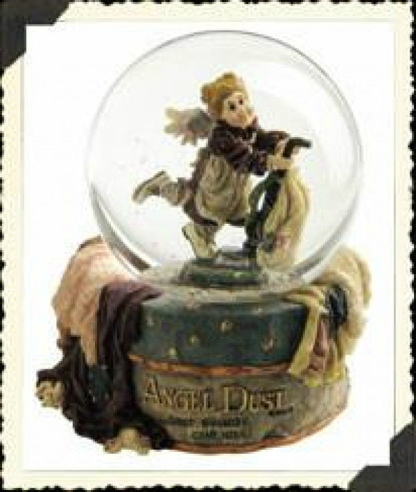 "Primary image for Boyds Folkstone Waterglobe ""Dusty Rose.. Dust Bunnies Can't Hide"" #271003-1E-NIB"