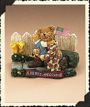 "Boyds Bearstone ""Greg with Mattie.. A Hero's Homecoming"" #228482-1E -NIB- 2006 - $29.99"