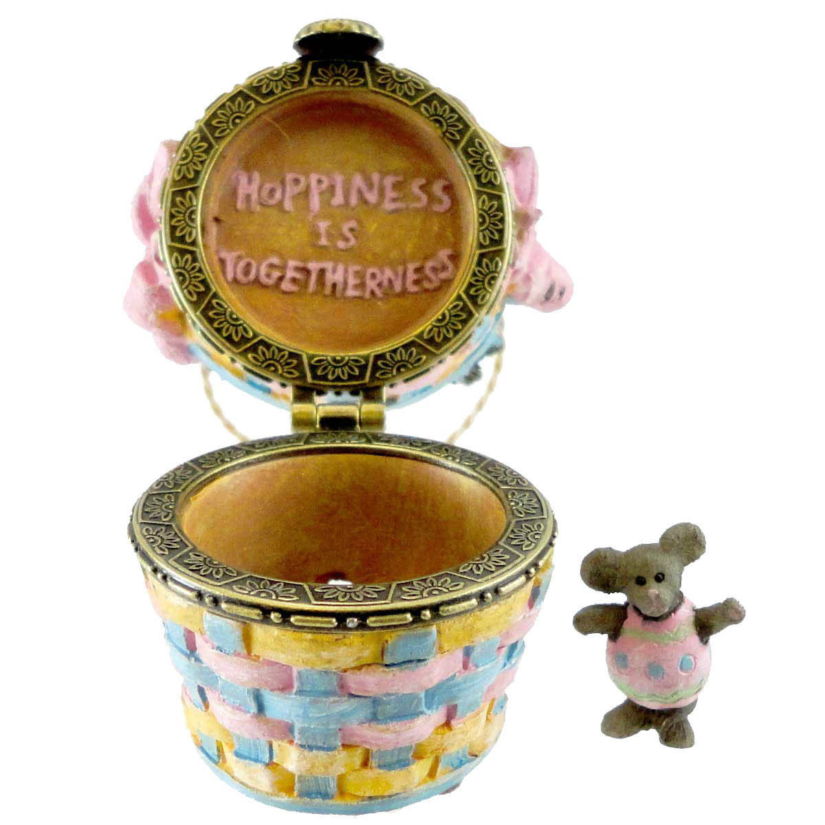 "Boyds Bears Treasure Box ""Willow & Tulas Easter w/Eggsley McNibble"" #4013373-1E"
