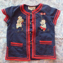 Vintage China Duckling boy shirt jacket for 2-4 years old - 1980s - $12.00