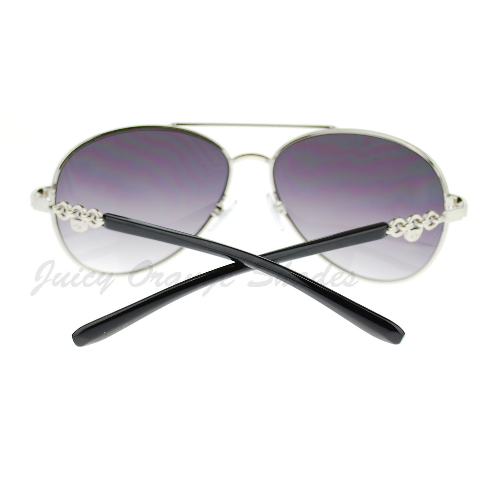 Womens Aviator Sunglasses Top Bar Colored Frame Round Aviators