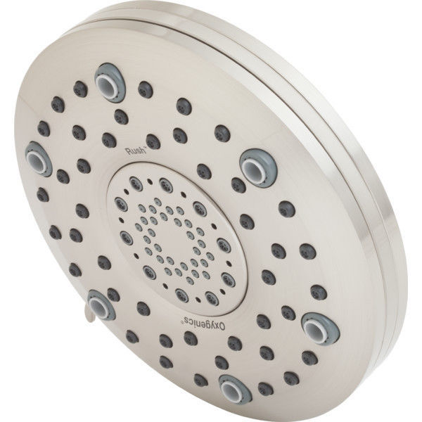 Oxygenics Brushed Nickel Rush 5-Function Rain Showerhead 2.0 GPM - $89.88