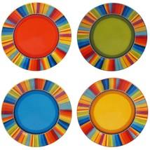 Sierra 4-Piece Seasonal Multicolored Earthenware 11 in. Dinner Plate Set... - $65.08