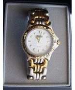 Medana Two Tone Sport Watch With White Dial And Link Two Tone Bracelet - $30.00