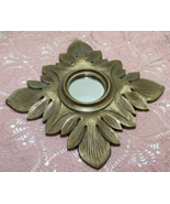 Vintage Hollywood Recency TRIESTE CO. Wall Mirror, Gold Leaf Design - $14.00