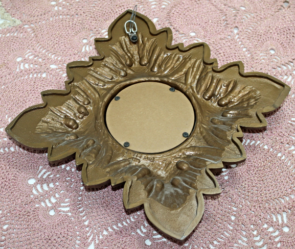 Vintage Hollywood Recency TRIESTE CO. Wall Mirror, Gold Leaf Design
