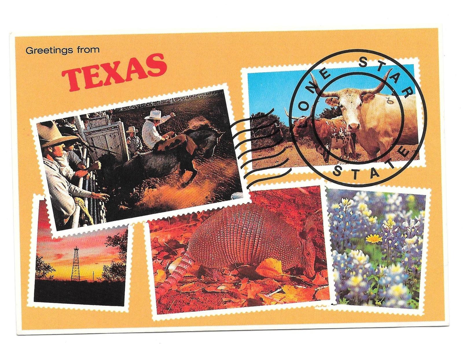 Nasa vintage postcard 3 listings greetings from texas lone star state vintage postcard 4x6 multiview 499 kristyandbryce Choice Image