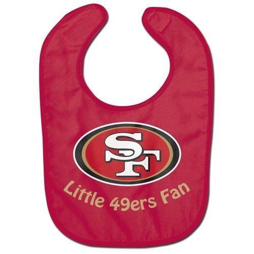 SAN FRANCISCO 49ERS ALL PRO BABY BIB VELCRO CLOSURE TEAM LOGO NFL FOOTBALL