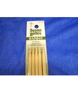 "Susan Bates Bamboo Double-Point KNITTING NEEDLES 5mm - 20cm, 8US - 8"" NE... - $5.25"