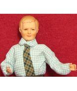 Dollhouse Dressed Man Caco DHS0091 Flexible Lt blue shirt plaid tie NRFB... - $38.45
