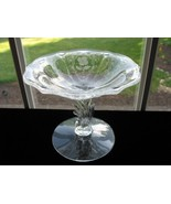 FOSTORIA SHIRLEY Etched Footed Compote - $22.00
