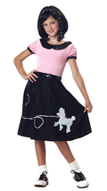 50's Hop w/Poodle Skirt Outfit - Childs Costume - $21.55