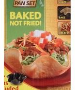 Perfect Tortilla Baking Mold Pan Set Of 4  Black Taco Bowls New in a Box - $19.79
