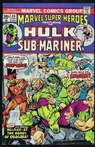 Marvel Super Heroes #49 ORIGINAL Vintage 1975 Comic Book Hulk New Men - $9.49