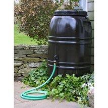 60-Gallon Rain Barrel in Earth Brown Food Grade Plastic - $285.44